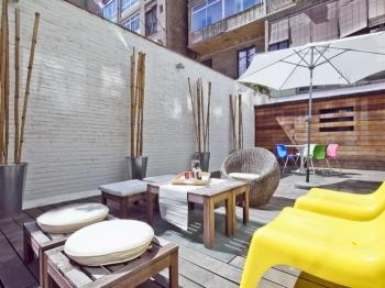 Sunny Stylish Terrace next to Paseo de Gracia